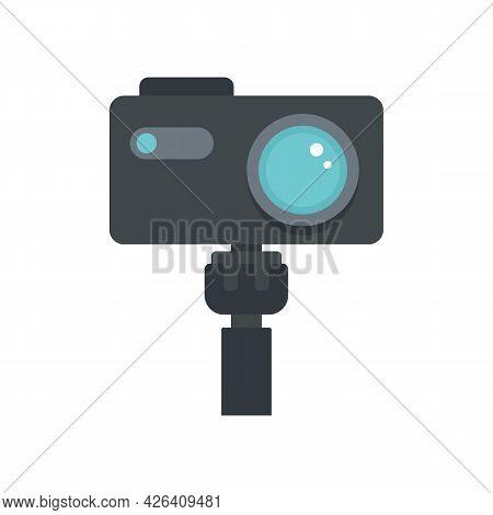 Professional Action Camera Icon. Flat Illustration Of Professional Action Camera Vector Icon Isolate
