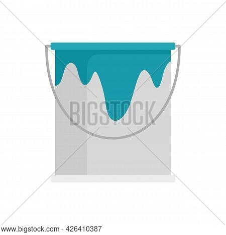Paint Bucket Icon. Flat Illustration Of Paint Bucket Vector Icon Isolated On White Background
