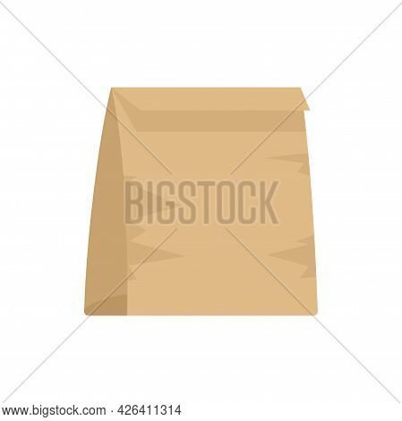 Used Lunch Bag Icon. Flat Illustration Of Used Lunch Bag Vector Icon Isolated On White Background