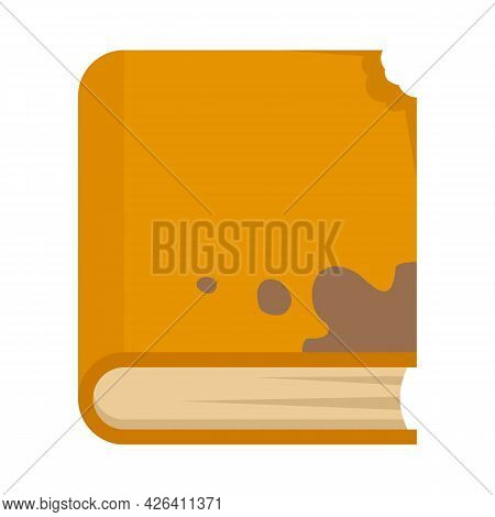 Garbage Book Icon. Flat Illustration Of Garbage Book Vector Icon Isolated On White Background