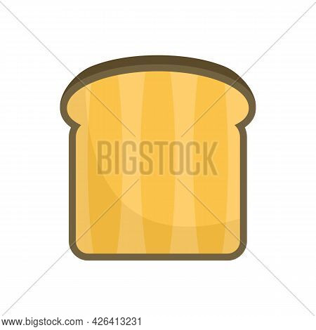 Bread Toast Icon. Flat Illustration Of Bread Toast Vector Icon Isolated On White Background