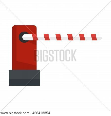 Parking Barrier Icon. Flat Illustration Of Parking Barrier Vector Icon Isolated On White Background