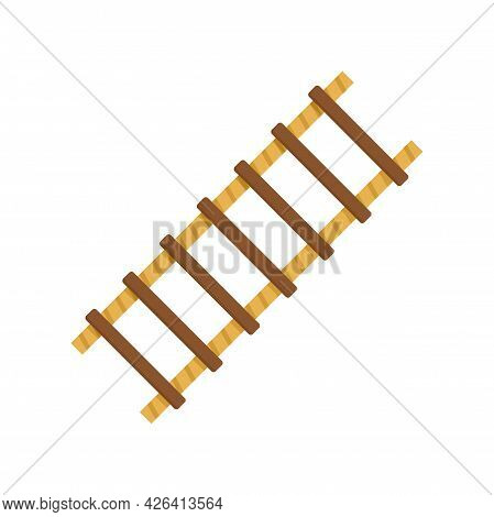 Farm Ladder Icon. Flat Illustration Of Farm Ladder Vector Icon Isolated On White Background