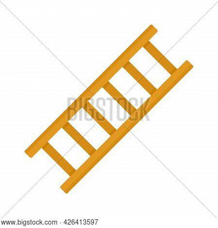 Repair Ladder Icon. Flat Illustration Of Repair Ladder Vector Icon Isolated On White Background