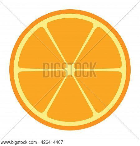 Citrus Fresh Icon, Food Fruit Juice Organic Symbol, Healty Nature Design Vector Illustration .