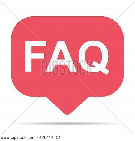 Faq, Frequently Asked Questions Vector Icon. Information Speech Bubble Symbol, Help Message .