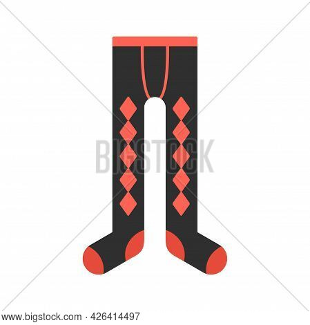 Winter Tights Icon. Flat Illustration Of Winter Tights Vector Icon Isolated On White Background