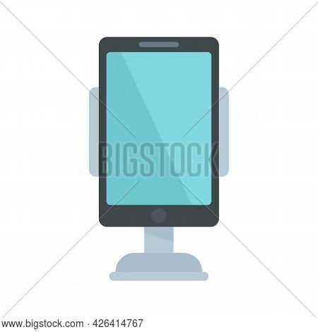 Modern Car Phone Holder Icon. Flat Illustration Of Modern Car Phone Holder Vector Icon Isolated On W
