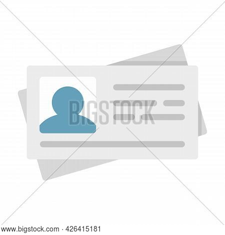 Id Carton Cards Icon. Flat Illustration Of Id Carton Cards Vector Icon Isolated On White Background