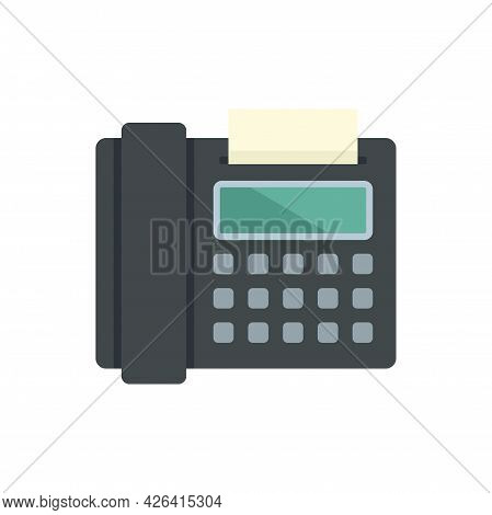 Fax Telephone Icon. Flat Illustration Of Fax Telephone Vector Icon Isolated On White Background