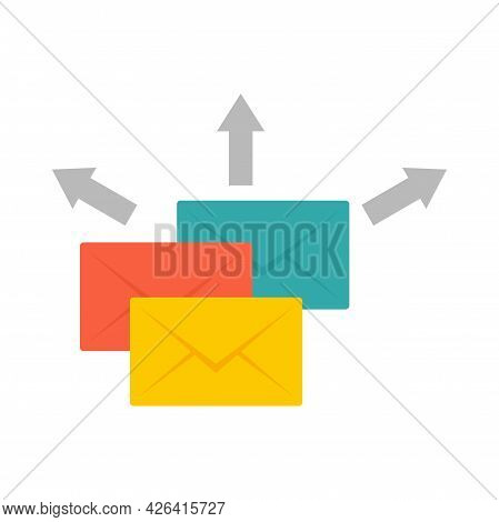 Mail Send Icon. Flat Illustration Of Mail Send Vector Icon Isolated On White Background
