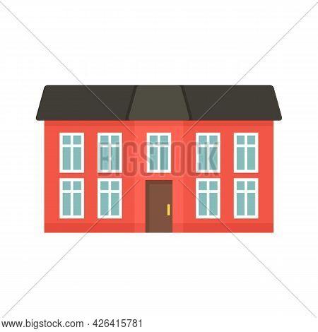 City Cottage Icon. Flat Illustration Of City Cottage Vector Icon Isolated On White Background