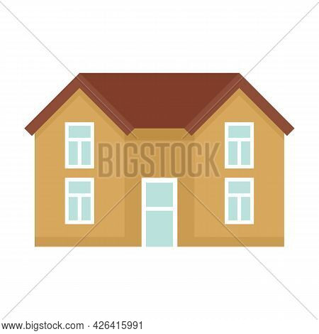 Roof Cottage Icon. Flat Illustration Of Roof Cottage Vector Icon Isolated On White Background