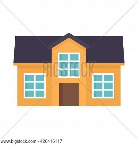 Window Cottage Icon. Flat Illustration Of Window Cottage Vector Icon Isolated On White Background