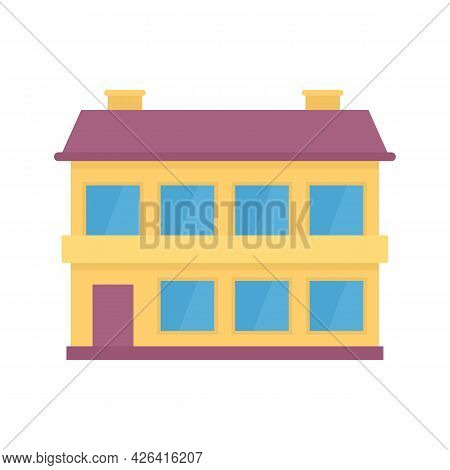 Apartment Cottage Icon. Flat Illustration Of Apartment Cottage Vector Icon Isolated On White Backgro