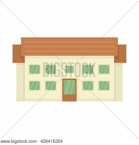 Residential Cottage Icon. Flat Illustration Of Residential Cottage Vector Icon Isolated On White Bac