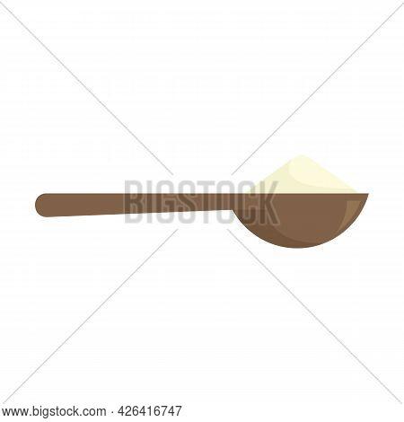 Flour Spoon Icon. Flat Illustration Of Flour Spoon Vector Icon Isolated On White Background