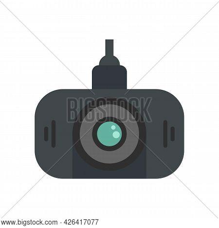 Led Dvr Camera Icon. Flat Illustration Of Led Dvr Camera Vector Icon Isolated On White Background
