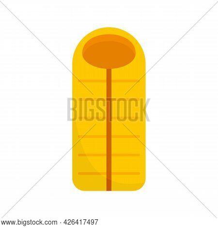 Outdoor Sleeping Bag Icon. Flat Illustration Of Outdoor Sleeping Bag Vector Icon Isolated On White B