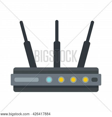 Network Router Icon. Flat Illustration Of Network Router Vector Icon Isolated On White Background