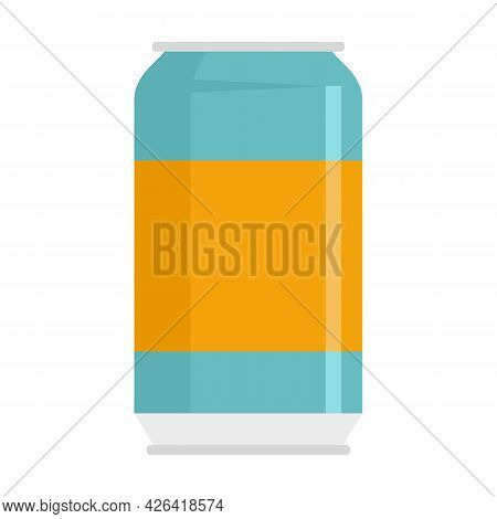 Cool Soda Tin Icon. Flat Illustration Of Cool Soda Tin Vector Icon Isolated On White Background