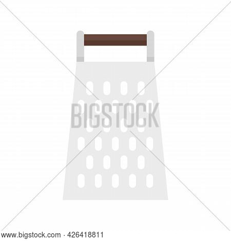 Old Grater Icon. Flat Illustration Of Old Grater Vector Icon Isolated On White Background