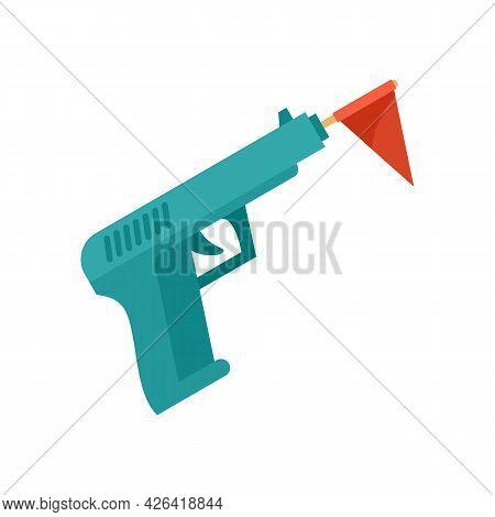Circus Gun Icon. Flat Illustration Of Circus Gun Vector Icon Isolated On White Background