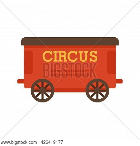 Circurs Carriage Icon. Flat Illustration Of Circurs Carriage Vector Icon Isolated On White Backgroun