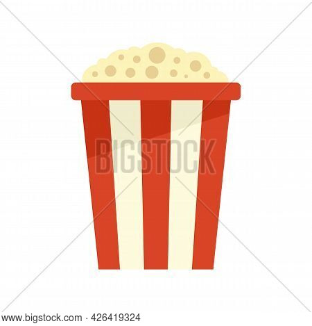 Popcorn Pack Icon. Flat Illustration Of Popcorn Pack Vector Icon Isolated On White Background