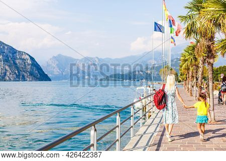 View On Lago Iseo And Mountains. Lombardy, Italy