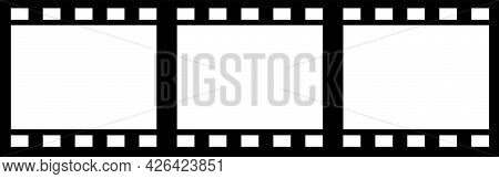 Video Tape Isolated On White Background. Vintage Cinematography Vector Illustration Element