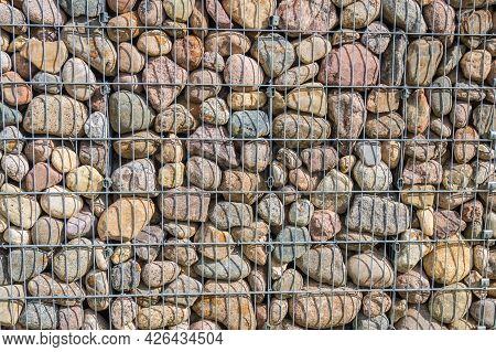Gabion Fence Stone Wall, Rocks Texture Background