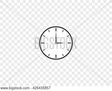 Clock, Period, Hours Icon. Vector Illustration. Flat.