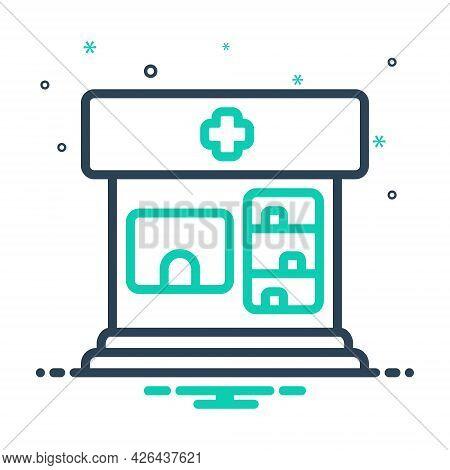 Mix Icon For Pharmacy Pharmaceutics Medical Shop Drugstore