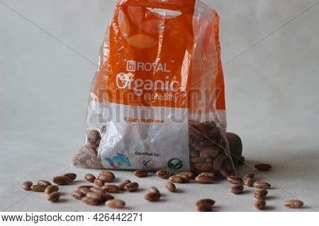 Big Baskets Red And White Packaging Of Red Kidney Beans. The Red Kidney Beans Are Commonly Known As