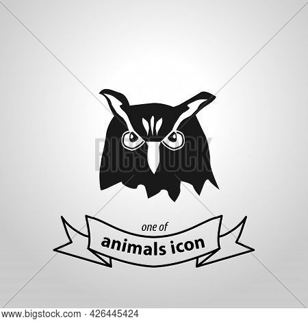 Owl Sign. Owl Isolated Simple Vector Icon