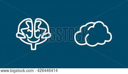 Brain Line Icon Set. Human Brain. Brain Line Icon Set. Human Brain.