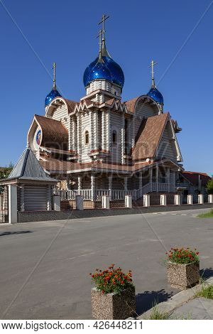 Wooden Church Of Michael The Archangel In The Village Of Busharino, Moscow Region, Russia.