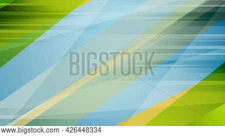 Colorful blue and green contrast abstract background