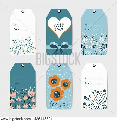 Label Editable With Space To Insert Your Own Effects, Postcard Designs To Be Inserted Into Flowers,