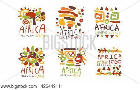 Original African Logo Or Badge Design Vector Set