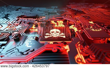 Vulnerable Computer Systems Being Hacked And Network Ransomware Digital Cybercrime Background Concep