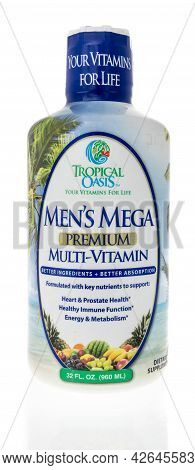 Winneconne, Wi -11 July 2021:  A Package Of Tropical Oasis Mens Mega Multi Vitamin Supplement On An