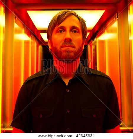 PARIS, FRANCE - NOVEMBRE 25, 2011: Portrait of the american rock group The Black Keys guitar / vocalist Dan Auerbach at Paris, France on novembre 25th, 2011