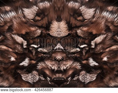Natural Fur Texture, Luxury Outerwear For Women Fashion, Fur Coat Texture Worn By Women In Winter