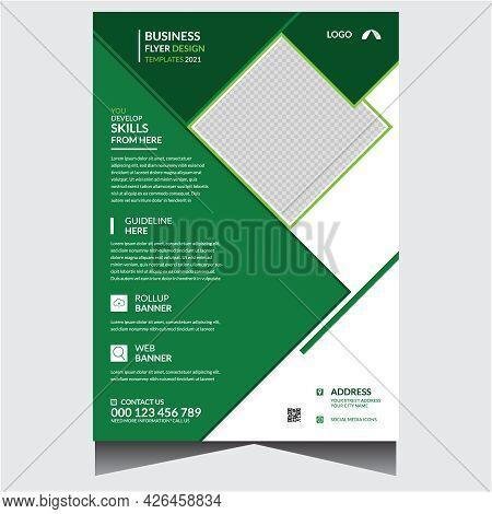 Simple Corporate Business Flyer Design Template Vector