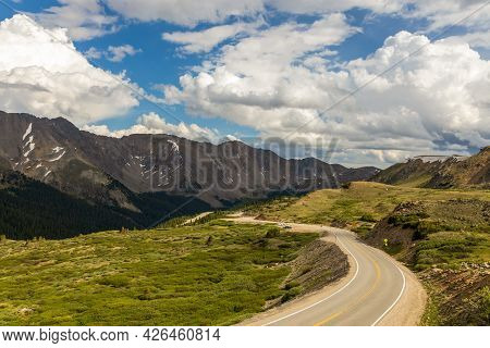 Scenic Panoramic View From Loveland Pass, Colorado