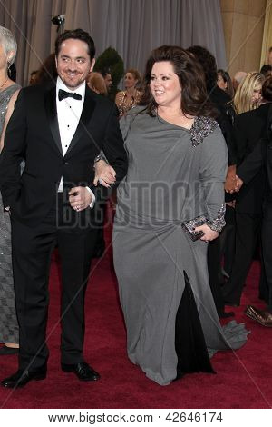 LOS ANGELES - FEB 24:  Melissa McCarthy arrives at the 85th Academy Awards presenting the Oscars at the Dolby Theater on February 24, 2013 in Los Angeles, CA