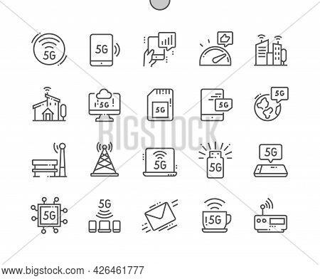 5g. Smart City. Digital Innovation, Lte, Social, Wave, Telecommunications, Network And Internet. 5g