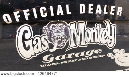 Bordeaux , Aquitaine France  - 07 04 2021 : Gas Monkey Garage Official Dealer Logo Text And Brand Si